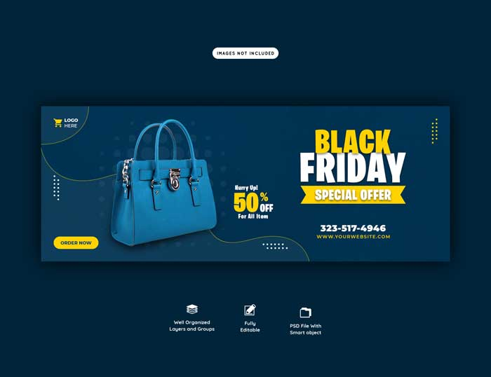 Black Friday Special Offer Cover PSD Template