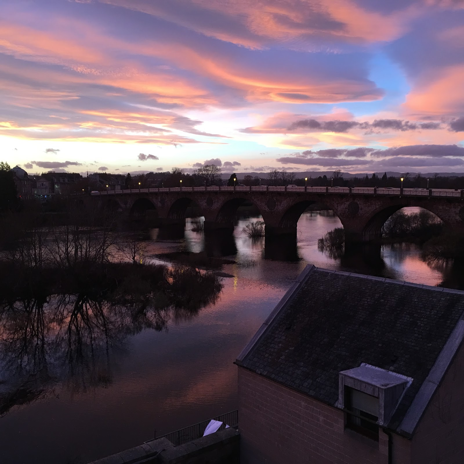 Perth Sunset Over The Tay December 2016