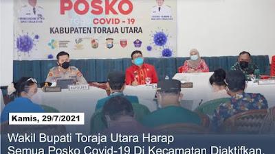 Wakil Bupati Toraja Utara Berharap semua Posko di Kecamatan Diaktifkan Kembali