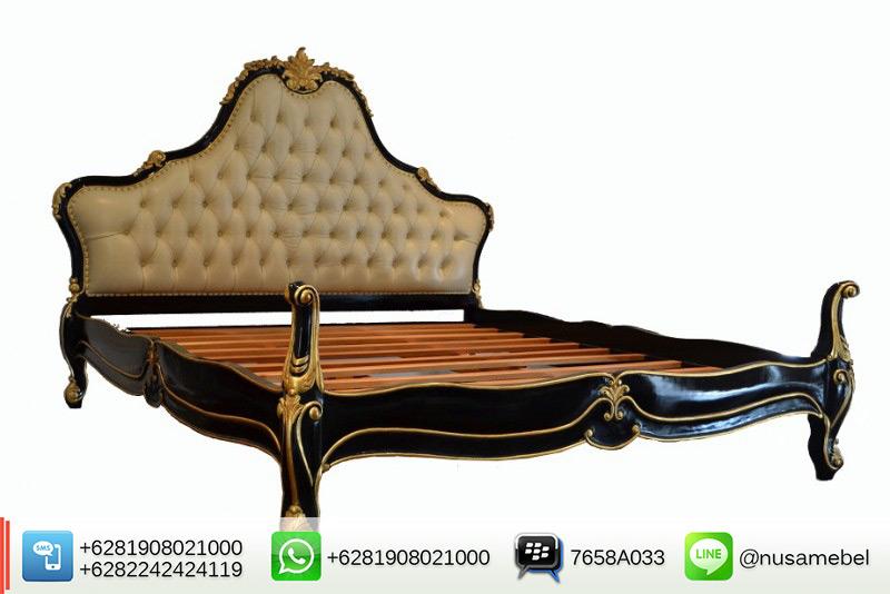 Black-Gold Louis XV Bedroom Furniture Maker Maryono