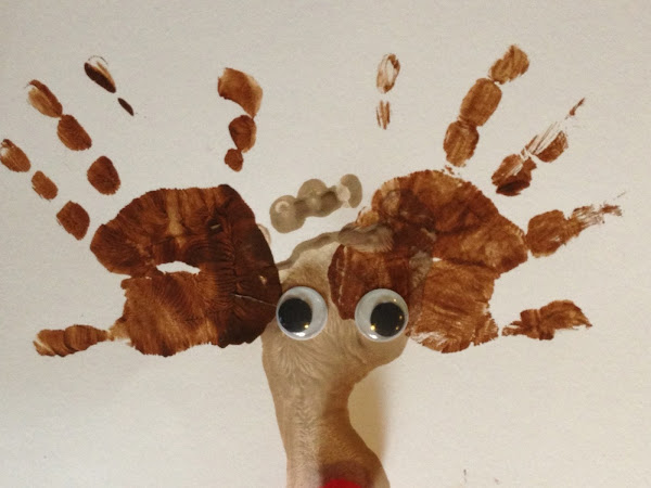Christmas Craft: Rudolph Reindeer Foot and Hand Prints