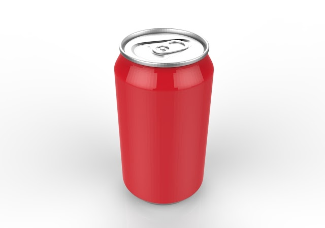coke can 3d model free download ,obj,Maya,low poly
