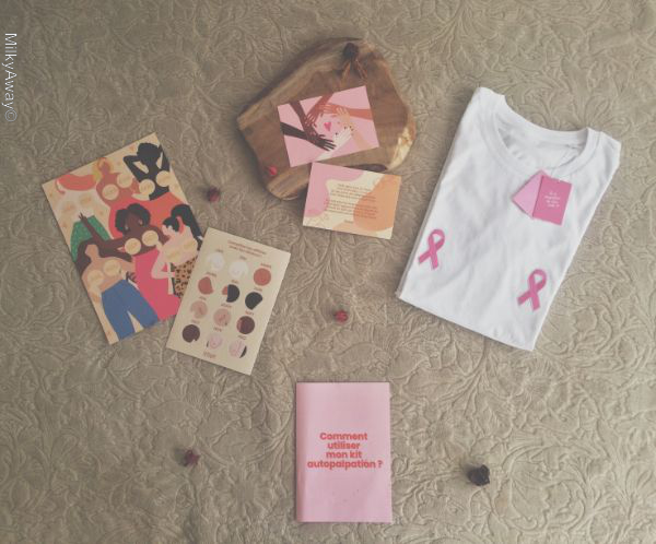 Kit Autopalpation et Titshirt Ruban Rose by TitsUp