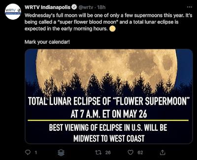 tweet about may 2021 lunar eclipse