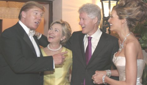 The Don with wife and Clintons