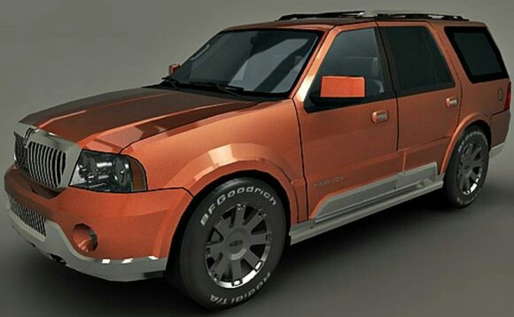 Download Model 3D Mobil Lincoln Navigator