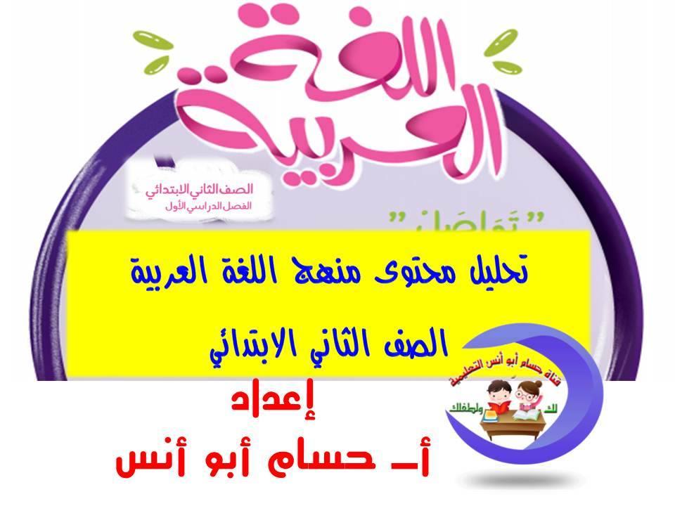 تحليل منهج اللغة العربية الصف الثاني الابتدائي 2020 أ/ حسام أبو أنس 1