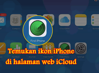 Temukan ikon iPhone di halaman web iCloud