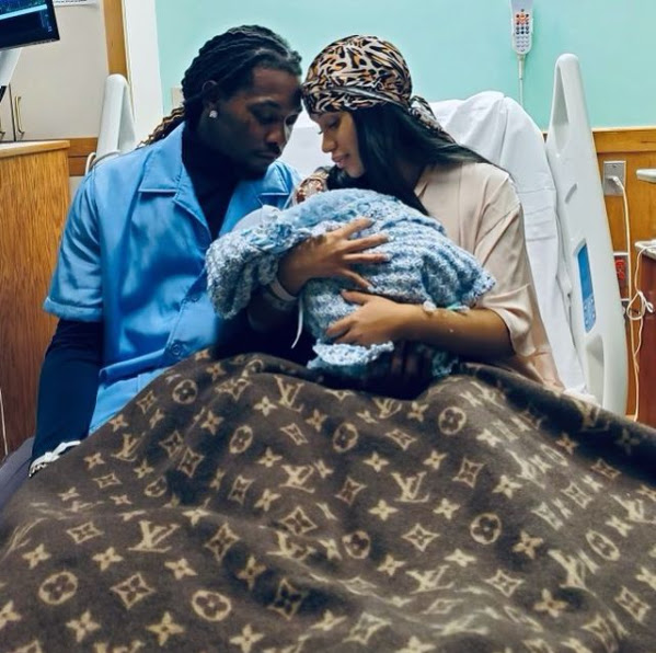 Cardi B and Offset welcomes their second child, a baby boy (Photos)