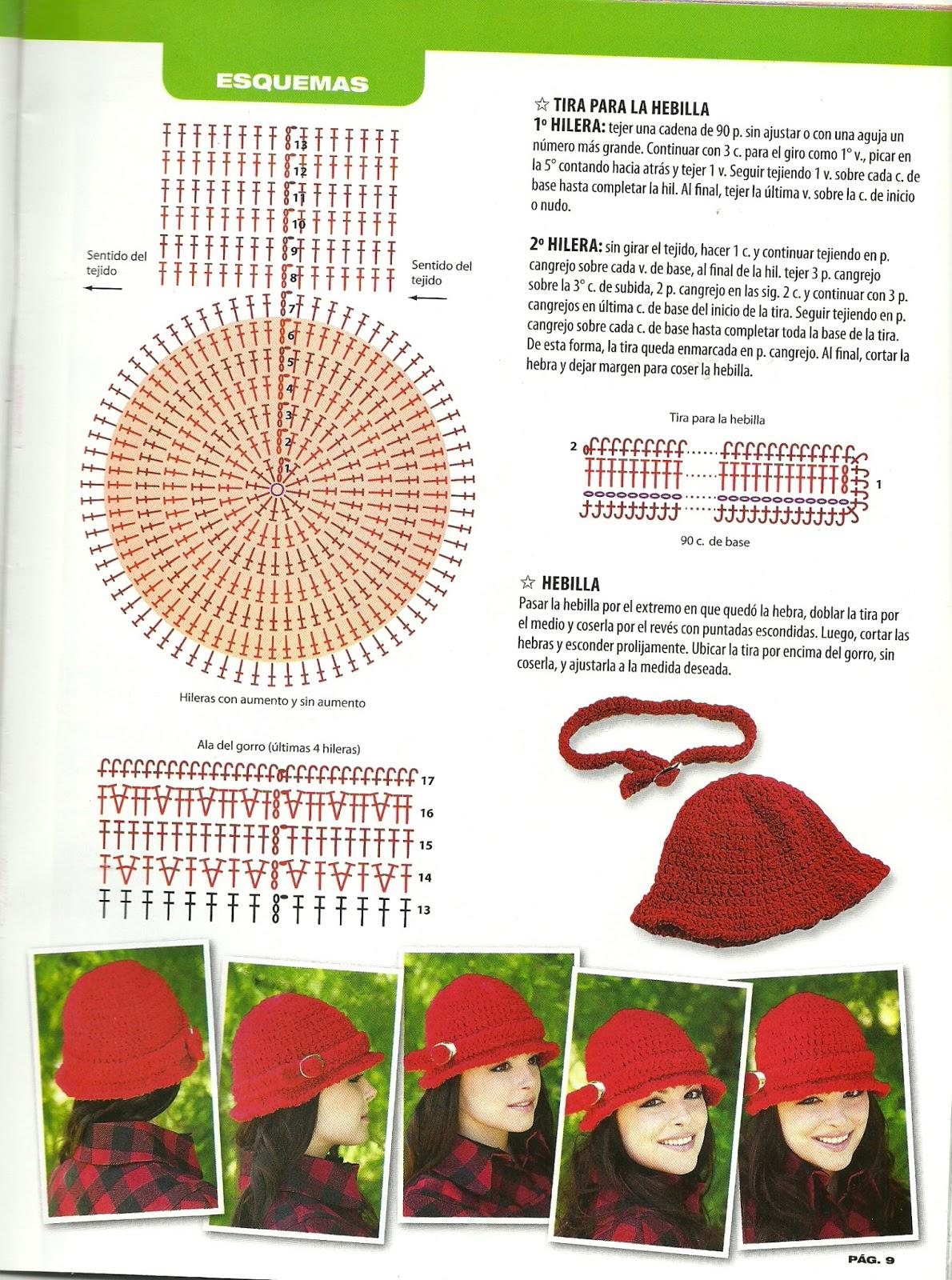 Excelente Sombrero Del Ganchillo Y El Patrón De La Bufanda Galería ...