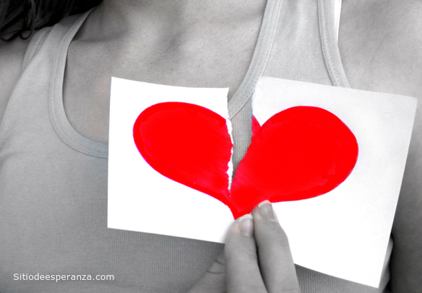 Corazón roto - separación de una pareja
