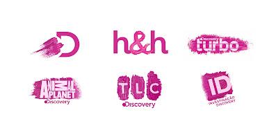 Logotipos dos canais Discovery, Discovery Home & Health, TLC, Animal Planet, Investigação Discovery e Discovery Turbo ganharão versões desenvolvidas especialmente para o Outubro Rosa - Divulgação