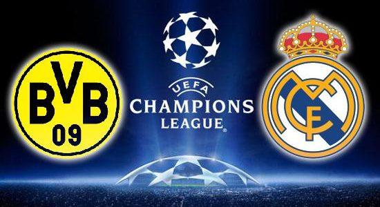 نتيجة مباراة ريال مدريد وبروسيا دورتموند اليوم الاربعاء7/12/2016, دوري ابطال اوروبا , انتهت المباراة بتعادل الفريقين 2-2