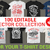 100 editable vector collection for T-shirt design