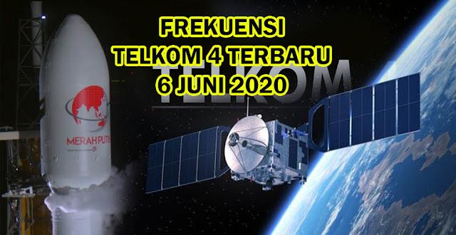Frekuensi Transponder Telkom 4 Terbaru 2020