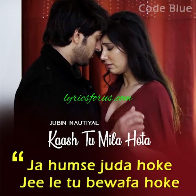 काश तू मिला होता लिरिक्स हिन्दी में/Kaash Tu Mila Hota Lyrics in Hindi.