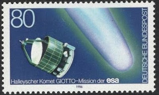 Germany 1986 Haley's Comet Satellite