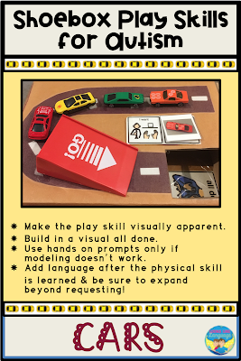 Get tips for expanding the play skills of students with autism using shoeboxes!