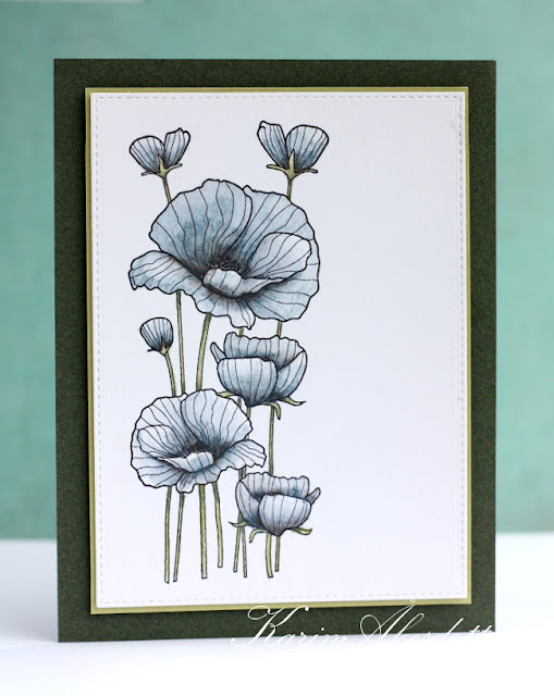 Peppermint Patty S Papercraft Blue Poppies With Hero Arts