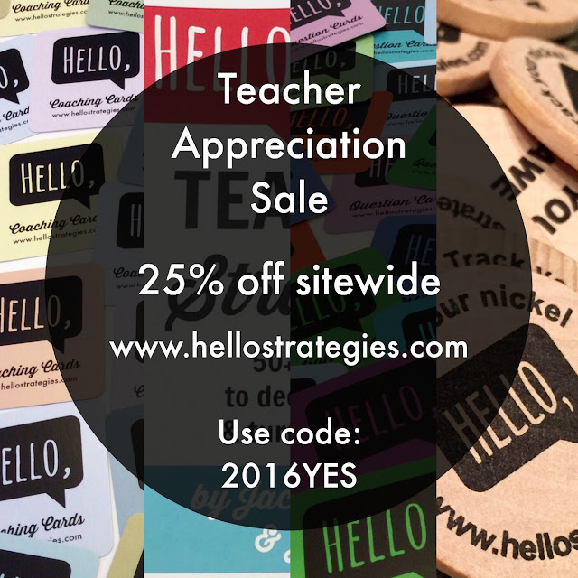 Hello Strategies Teacher Appreciation Sale