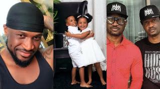 Peter Okoye Celebrates His Twin Brother's Twins on Their Birthday