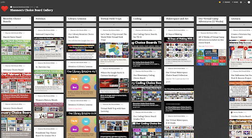 Lots of NEW Additions To Shannon's Choice Board Gallery Padlet For All To Use!