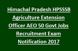 Himachal Pradesh HPSSSB Agriculture Extension Officer AEO 07
