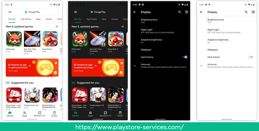 Google Play Store Dark Mode