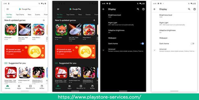 الواجهة الجديدة لمتجر جوجل بلاي على نظام Android Q.
