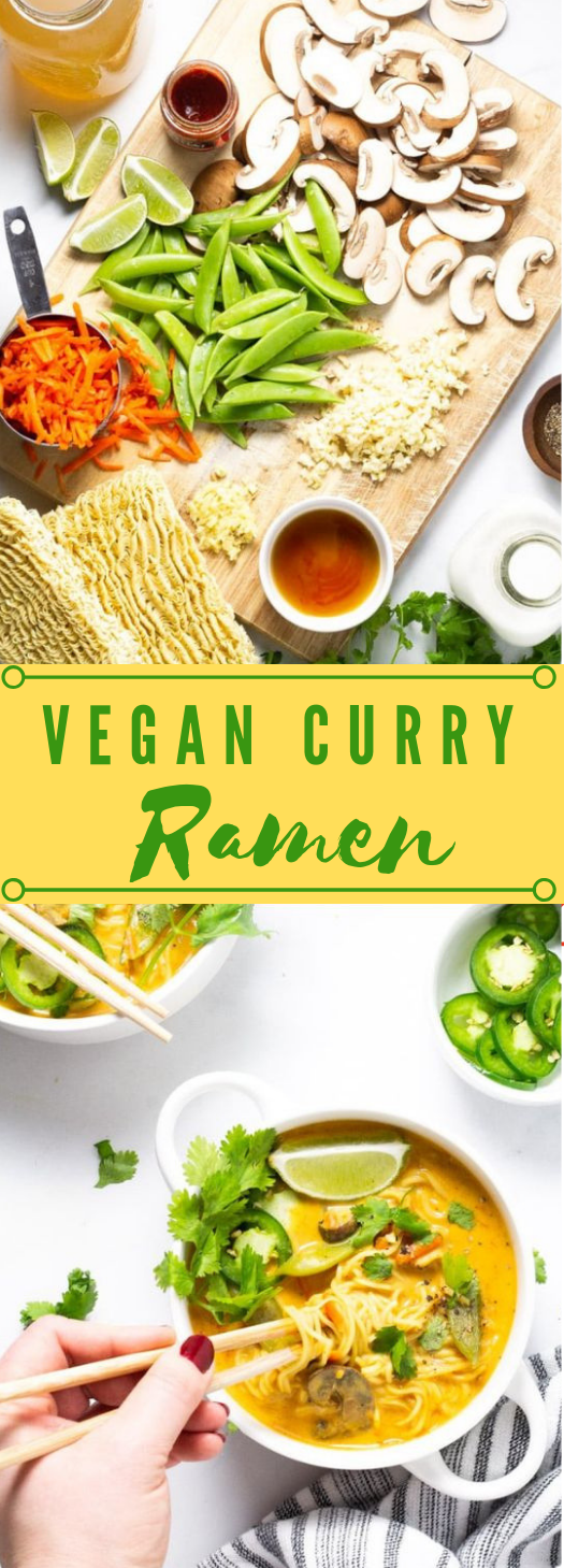 VEGAN CURRY RAMEN NOODLES  #vegan #vegetarian #ramen #food #breakfast