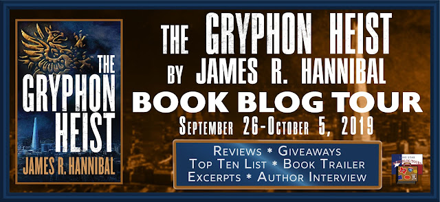 The Gryphon Heist book blog tour promotion banner