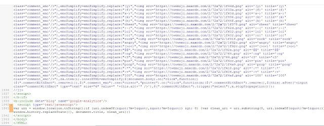 Menghilangkan Kode ?m=1 atau ?m=0 Pada Url Blogger