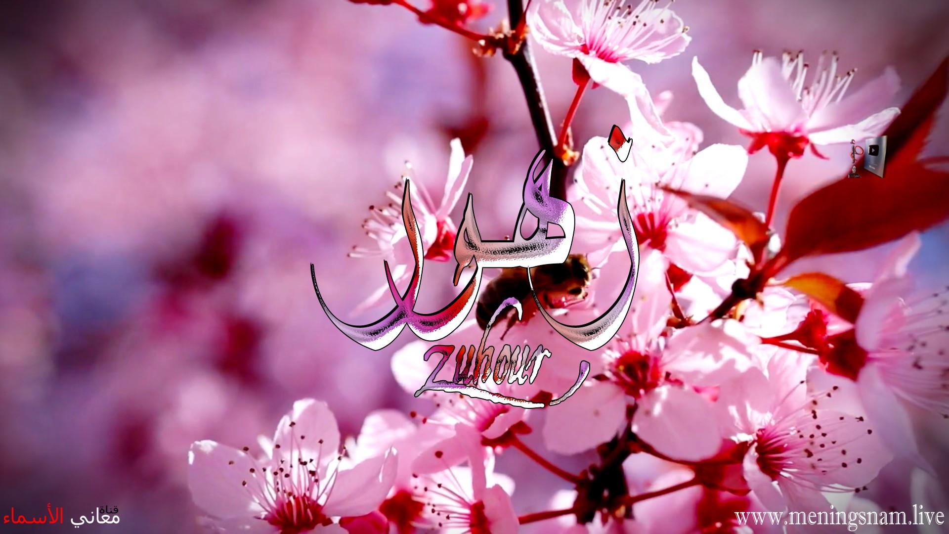 معنى اسم زهور وصفات حاملة هذا الاسم Zhour