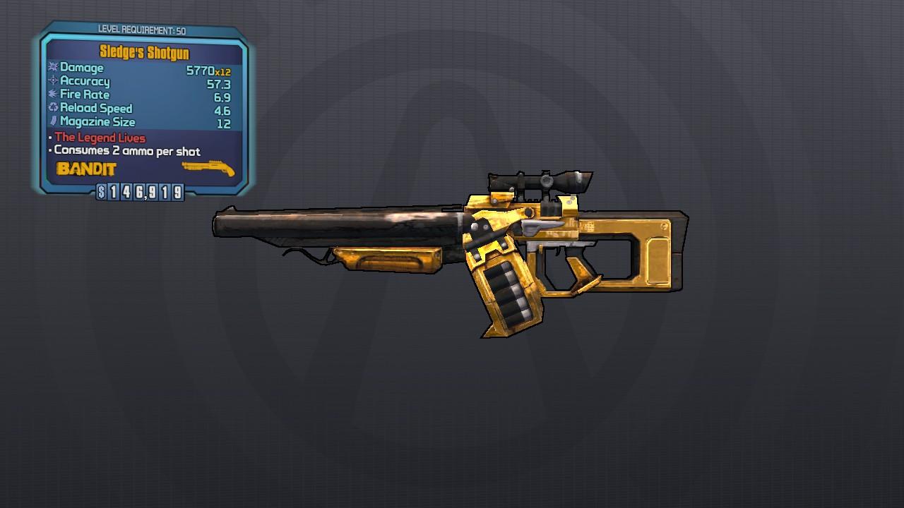 Sledge's Shotgun: Borderlands 2 Legendary Weapons | Borderlands 2