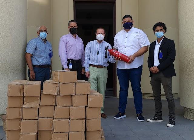 Fundación Refidomsa dona decenas de extintores a la Dirección General de Bellas Artes