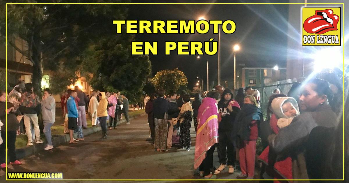 Terremoto de 8 grados sacude al Perú durante esta madrugada