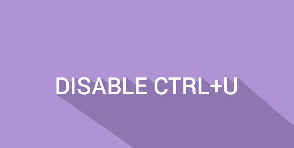 Memasang Script Disable CTRL + U