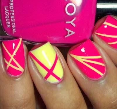Perfect Nail Arts Nail Art Con Righe Diagonali