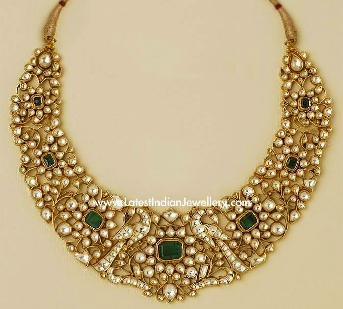 Kundan Gold and Emerald Necklace