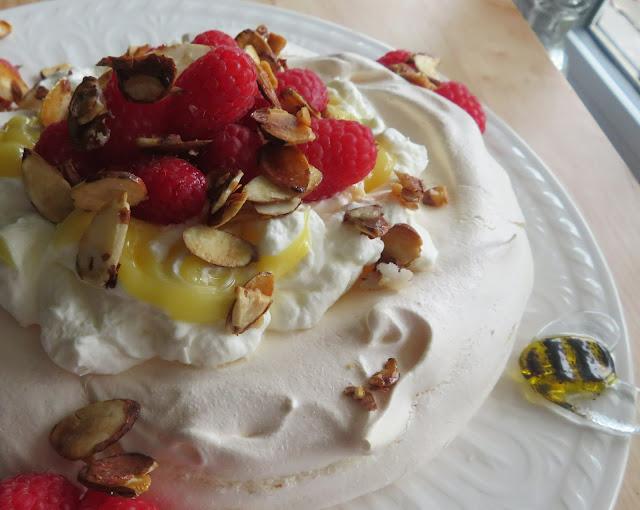 Lemon & Raspberry Pavlova