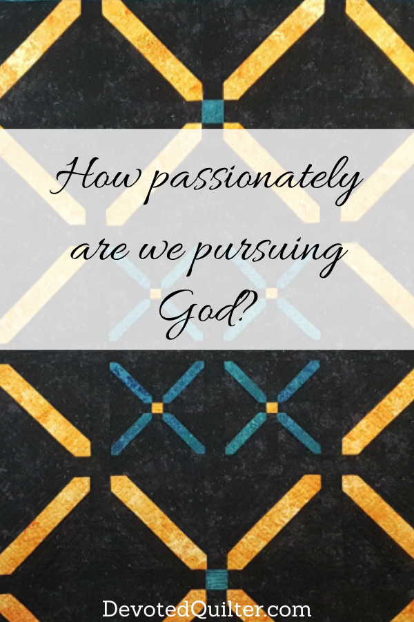 How passionately are we pursuing God? | DevotedQuilter.com