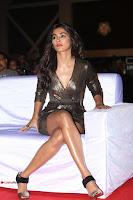 Pooja Hegde looks glamarous in deep neck sleevless short tight golden gown at Duvvada Jagannadham thank you meet function 067.JPG