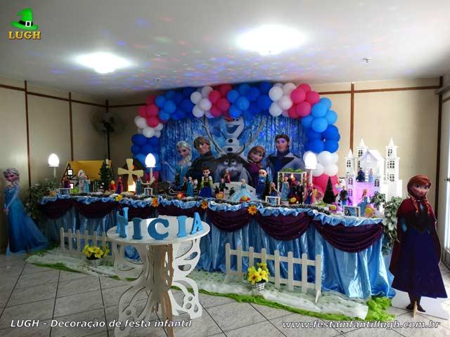 Decoração de festa infantil Frozen para aniversário de meninas - Barra - Rio de Janeiro