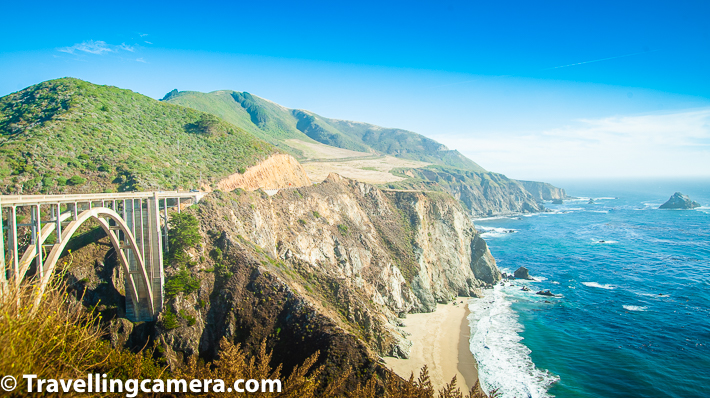 Whenever you search Big Sur, you get to se a beautiful bridge in photographs and more than it's real name, it's known as a symbol of Big Sur.  Interestingly Bixby Creek Bridge on the Big Sur coast of California is one of the most photographed bridges in California due to its aesthetic design and that should not surprise anyone.     Related Blogpost - Top 30 Places to explore or things to do in San Francisco Bay Area, California