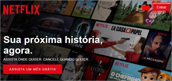 Acessando conta do Netflix - PC