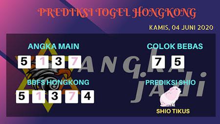 Prediksi HK Kamis 04 Juni 2020 - Bocoran Togel HK