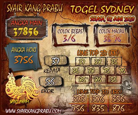 Prediksi Togel Sydney Selasa 02 Juni 2020 - Syair Kang Prabu