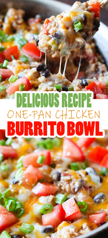 DELICIOUS ONE-PAN #CHICKEN #BURRITO BOWL #RECIPE