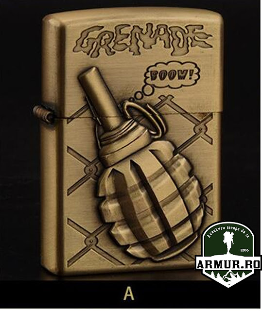 bricheta grenada tip zippo, Army Military