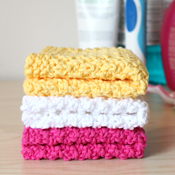 free knitting pattern for washcloth, dishtowel, face cloth, hand towel